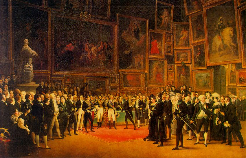 1824 Salon de Paris, official Academic Art exhibition of the Acadmie des Beaux-Arts